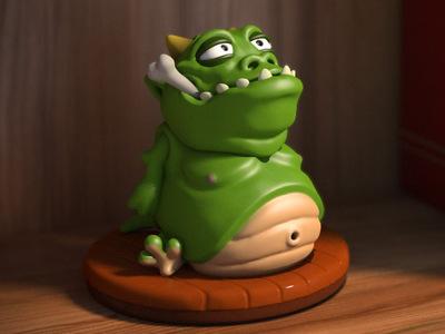 宠物怪物Gulpy-3d打印模型
