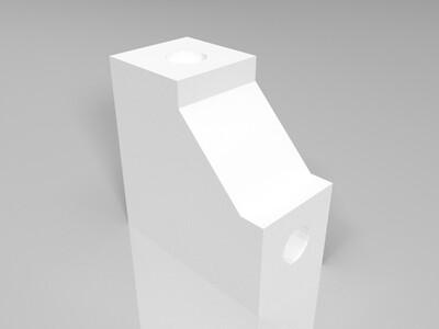 8毫米杆直角支架-3d打印模型