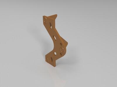 回旋镖式驱动器支架-3d打印模型