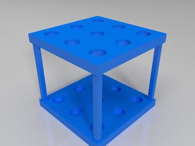 试管架-3d打印模型
