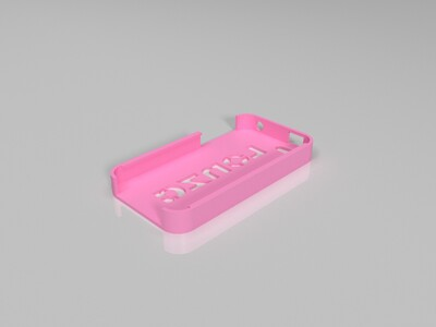 iPhone 4保护壳-龙沙-3d打印模型