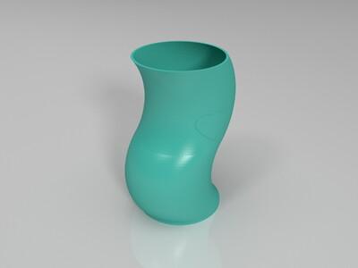 弯曲的小夜灯-3d打印模型