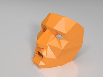 低多边形面具-3d打印模型