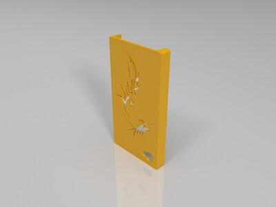 iPhone 4S手机壳-龙-3d打印模型