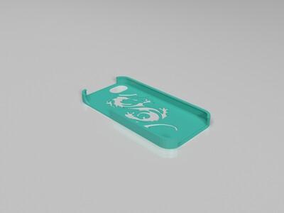 龙iPhone 5手机壳-3d打印模型