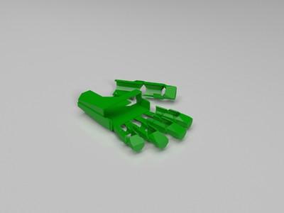 机械手套-左-3d打印模型