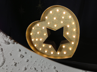 心脏星空跑马灯-3d打印模型