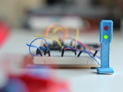 LED交通灯-3d打印模型