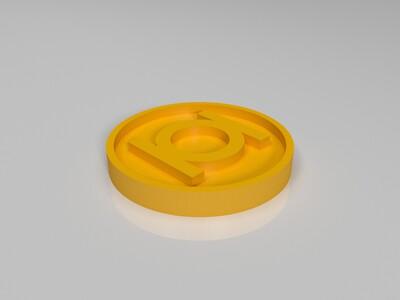 绿灯侠标志-3d打印模型