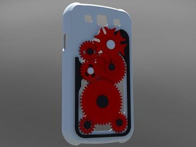 Galaxy s3齿轮手机壳-3d打印模型