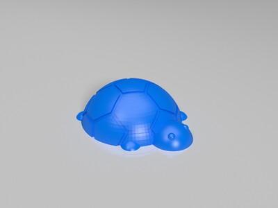 龟钥匙扣-3d打印模型