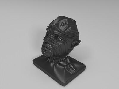 外星人头像-3d打印模型