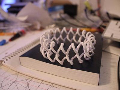曲折的手镯-3d打印模型