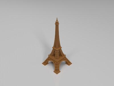 艾菲尔铁塔-3d打印模型