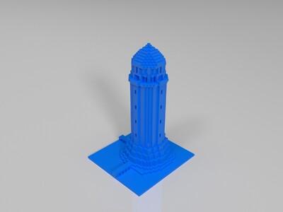 灯塔-我的世界-3d打印模型