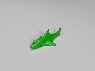 头上有激光武器的鲨鱼