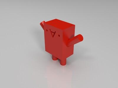 倒A小人-3d打印模型