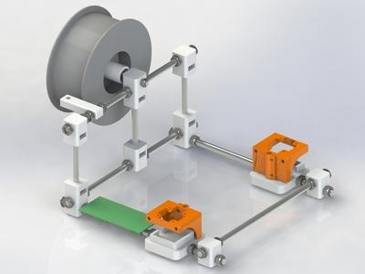 打印机外部-3d打印模型