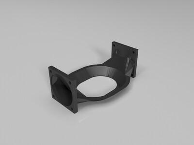 不同的风扇散热架-3d打印模型