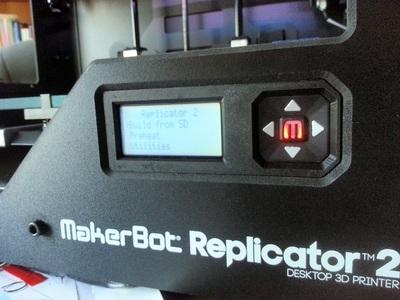Replicato2和2X液晶板边框-3d打印模型