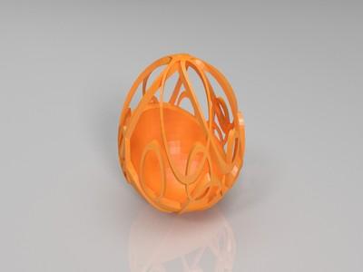 复活节彩蛋艺术-3d打印模型
