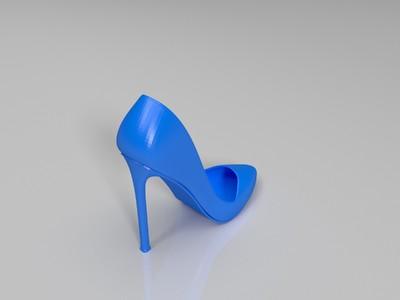 更高的高跟鞋-3d打印模型