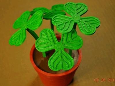 三叶草花盆-3d打印模型