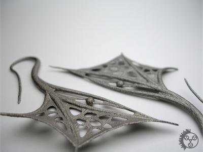 翼耳环-3d打印模型