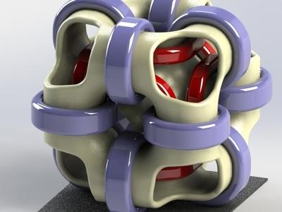 立方体环艺术-3d打印模型