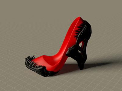 霸王龙高跟鞋-3d打印模型
