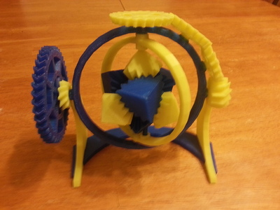 陀螺魔方齿轮-3d打印模型