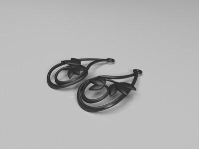 树叶吊坠-3d打印模型