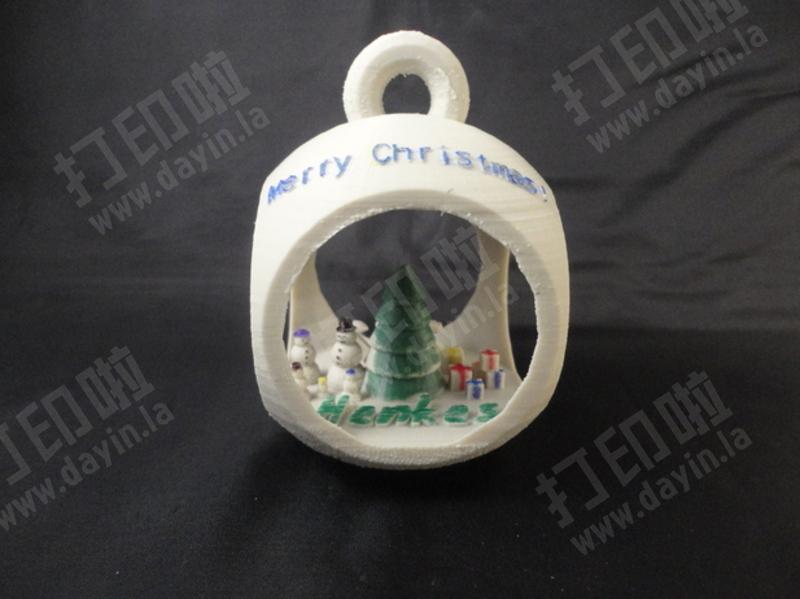 圣诞场景吊坠-3d打印模型