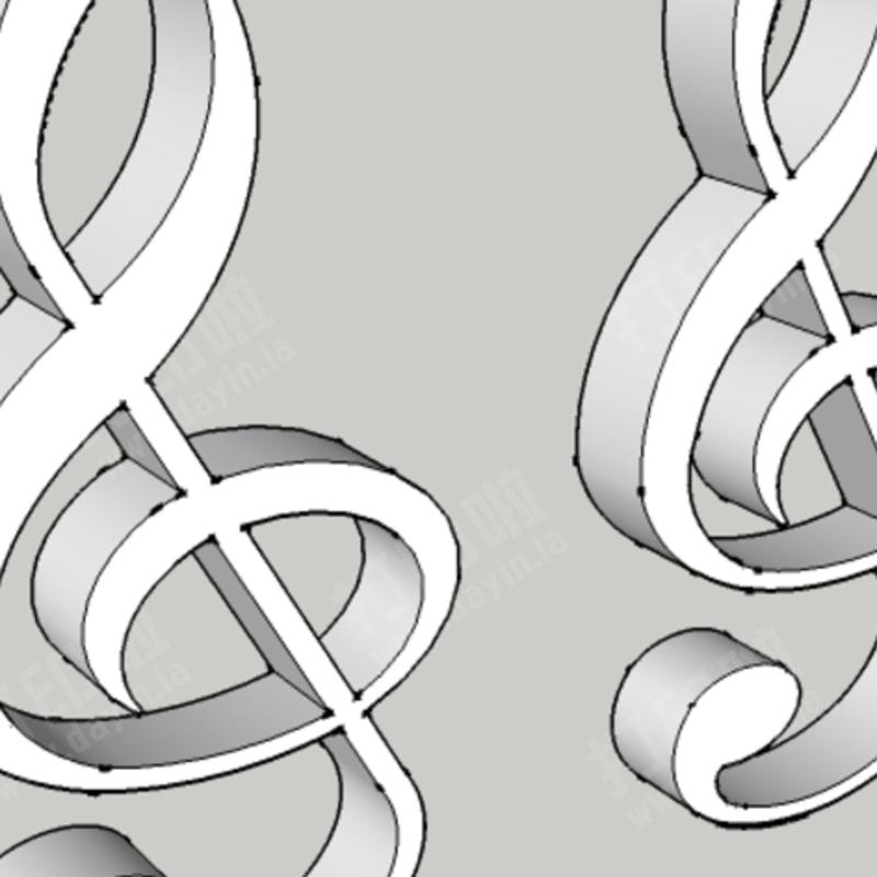 高音谱号耳环