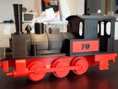 蒸汽机车-3d打印模型