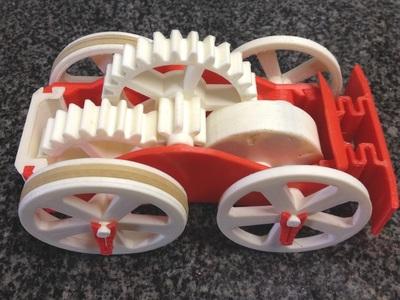 飞轮玩具车-3d打印模型