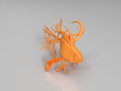 金鱼-3d打印模型