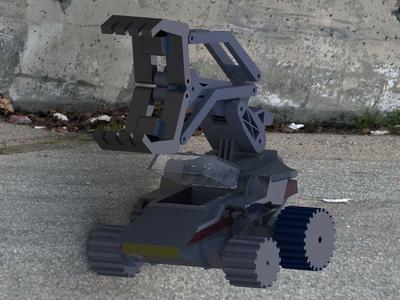 轮式机械车-3d打印模型