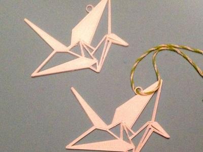 纸鹤吊坠-3d打印模型