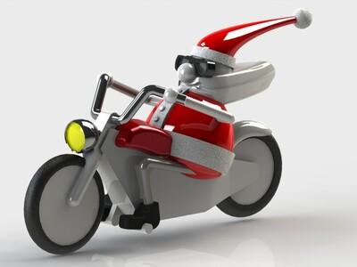 骑摩托的圣诞老人