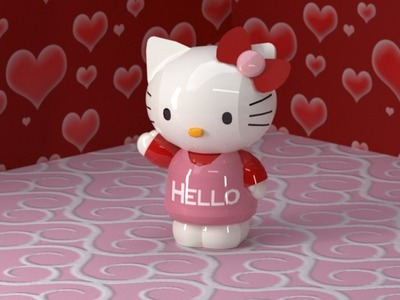 Hello Kitty-3d打印模型
