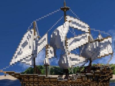 中世纪的船-Minecraft-3d打印模型