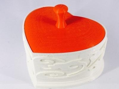 心形盒-3d打印模型
