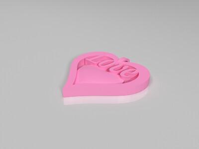 心吊坠-3d打印模型