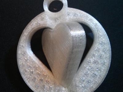 情人节钥匙扣-3d打印模型