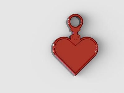 心脏吊坠-3d打印模型