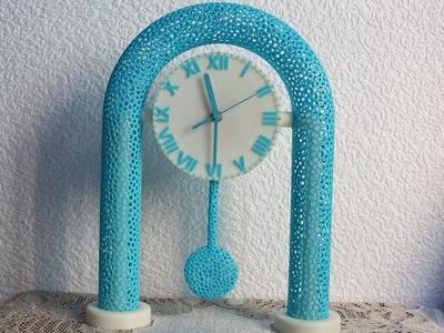 镂空摆时钟-3d打印模型