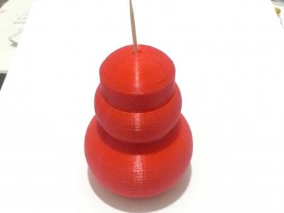 葫芦形牙签盒-3d打印模型