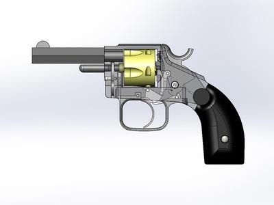 左轮手枪-3d打印模型