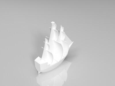 风帆船-3d打印模型
